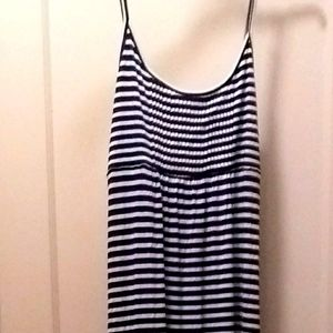 New Sz 4 Calvin Klein striped summer maxi dress